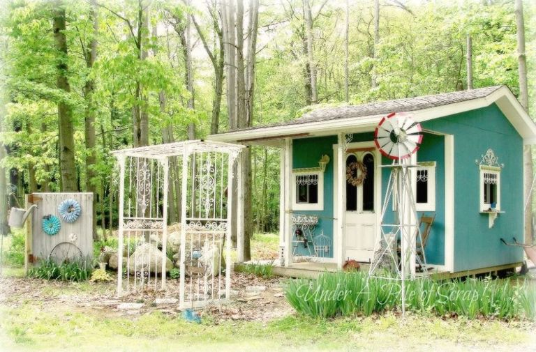 8 mẹo đơn giản thiết kế nhà kho phía sân sau thành góc thư giãn đẹp như tranh vẽ - Ảnh 11
