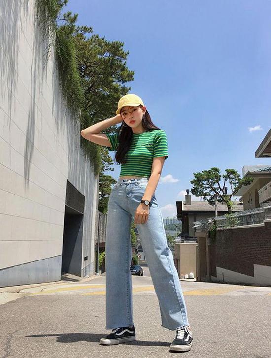 Phối đồ mùa hè với quần jeans ống suông - Ảnh 4