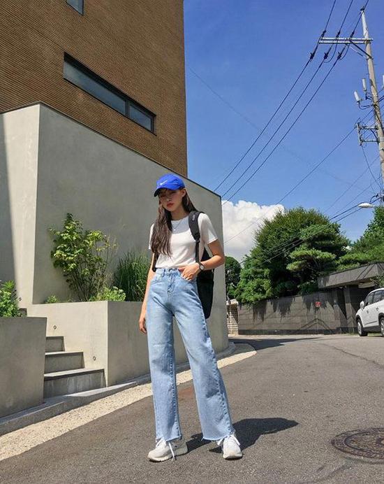 Phối đồ mùa hè với quần jeans ống suông - Ảnh 5