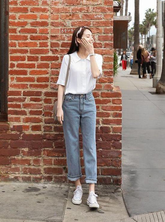Phối đồ mùa hè với quần jeans ống suông - Ảnh 6