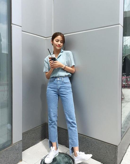Phối đồ mùa hè với quần jeans ống suông - Ảnh 9