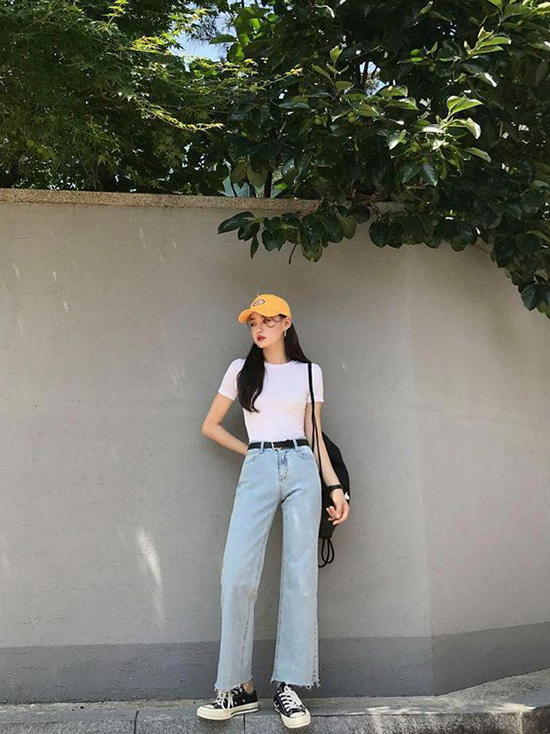 Phối đồ mùa hè với quần jeans ống suông - Ảnh 10