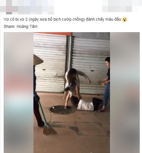 Ngược đời: Bồ nhí tìm đánh vợ nhân tình chảy máu đầu gây xôn xao mạng xã hội - Ảnh 1
