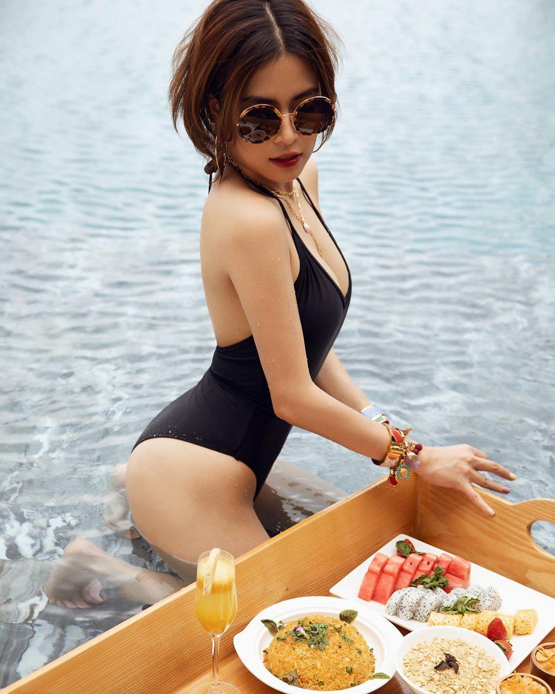 Hoàng Thùy Linh 'bung lụa' với loạt hình táo bạo khoe body, nếu so về độ sexy nóng bỏng thì chẳng thua kém gì Chi Pu - Ảnh 2
