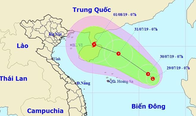 Xuất hiện vùng áp thấp trên Biển Đông, có thể hướng vào Việt Nam - Ảnh 1