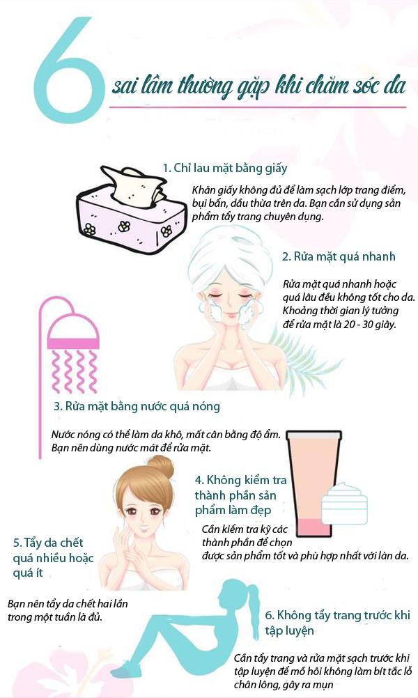 6 sai lầm thường gặp khi chăm sóc da - Ảnh 1