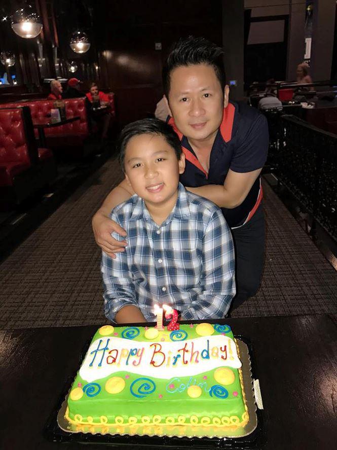 Bằng Kiều và vợ cũ hội ngộ trong tiệc sinh nhật con trai tại Mỹ - Ảnh 2