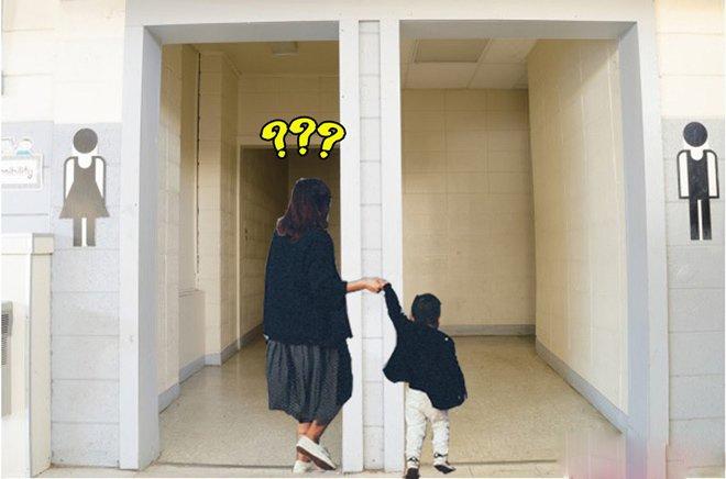 Mẹ dắt con vào nhà vệ sinh nhưng bé nhất định không đi, nói 1 câu khiến mẹ 'đứng hình' - Ảnh 1