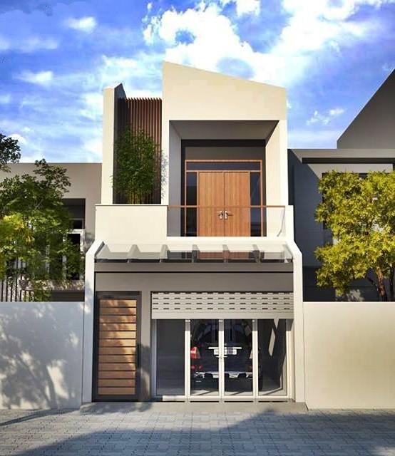 Mẫu nhà phố 2 tầng tuyệt đẹp cho khu đất mặt tiền hẹp - Ảnh 1