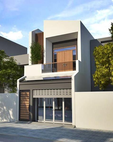 Mẫu nhà phố 2 tầng tuyệt đẹp cho khu đất mặt tiền hẹp - Ảnh 2