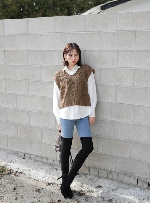 Áo len ghi lê - món đồ sành điệu, trẻ trung mùa lạnh - Ảnh 1