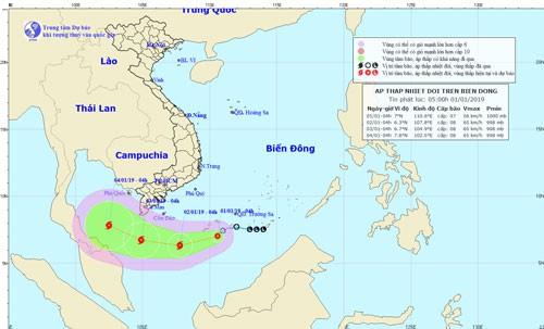 Bão số 1, giật cấp 10 đe dọa vùng biển Cà Mau - Ảnh 1