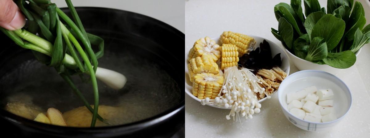 Ngon miệng bổ dưỡng món canh gà hầm rau củ - Ảnh 2
