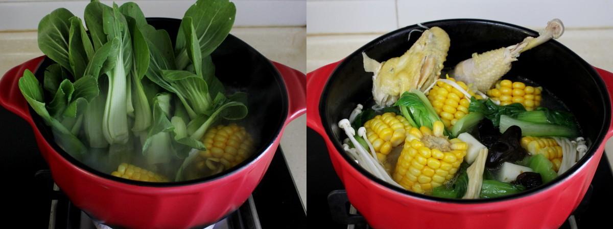 Ngon miệng bổ dưỡng món canh gà hầm rau củ - Ảnh 4