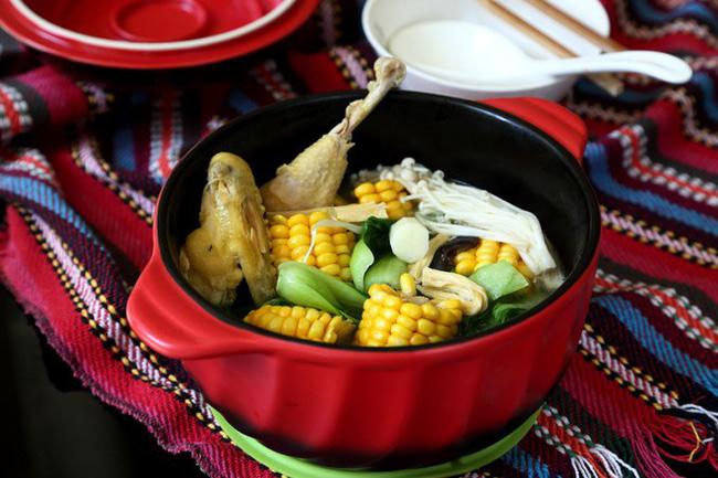 Ngon miệng bổ dưỡng món canh gà hầm rau củ - Ảnh 5