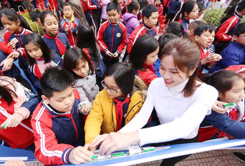 Chương trình sữa học đường Hà Nội được chính thức triển khai - Ảnh 7