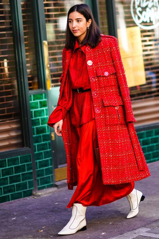 Gợi ý mặc đẹp với sắc đỏ cho mùa Tết Kỷ Hợi 2019 - Ảnh 6