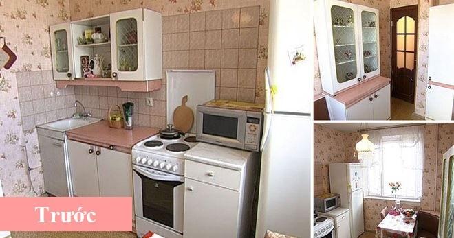 """""""Lột xác"""" nhà bếp nhỏ 9m2 trở nên hiện đại và sang trọng - Ảnh 1"""