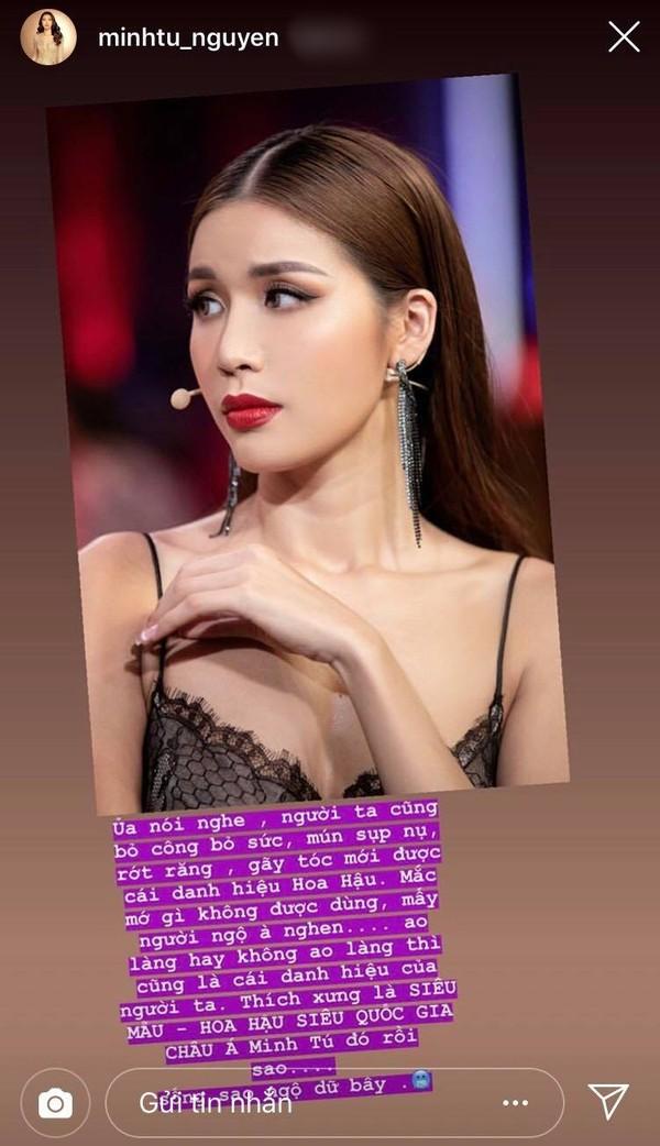 Minh Tú đáp trả gay gắt bình luận ác ý về danh hiệu Hoa hậu Siêu quốc gia châu Á 2018 - Ảnh 3