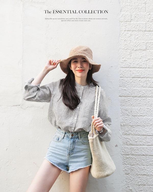 4 cách lên đồ đẹp cùng quần short jeans cho ngày hè năng động  - Ảnh 6
