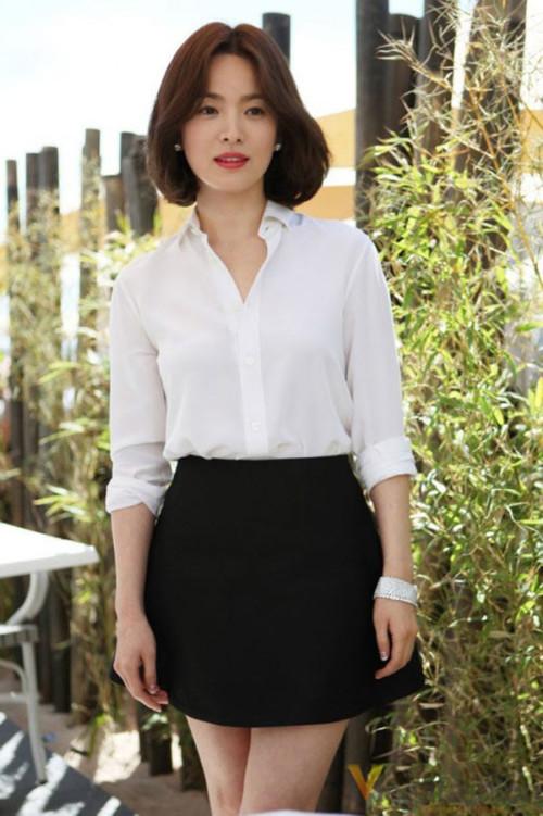 Cách mặc để tăng 10cm chiều cao của Song Hye Kyo - Ảnh 5