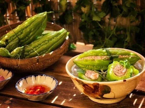Cách làm mướp đắng nhồi thịt thơm ngon, mướp xanh, không đắng gắt, giải nhiệt ngày hè - Ảnh 5