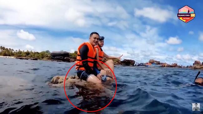Quang Vinh và Phạm Quỳnh Anh bất ngờ bị lên án vì hành động phá hoại tài nguyên thiên nhiên biển - Ảnh 2