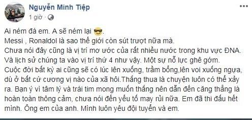 Loạt sao Việt phẫn nộ khi cổ động viên quá khích chửi Quang Hải, Bùi Tiến Dũng là 'tội đồ' - Ảnh 7