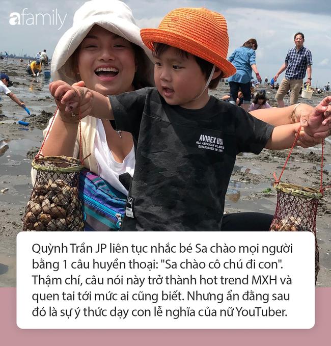 Lý do gì khiến nhóc Sa 3 tuổi ngoan ngoãn ngồi xem mẹ quay Vlog, có thể bởi cách dạy con cực khéo của Quỳnh Trần JP - Ảnh 3
