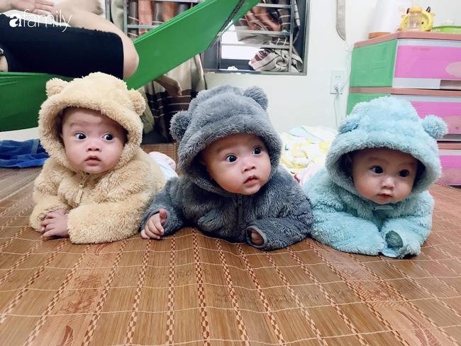Hé lộ cuộc sống bỉm sữa của gia đình sinh ba: 2 tháng đầu gần như thức trắng đêm, mỗi tháng tốn 30 triệu nuôi con - Ảnh 6