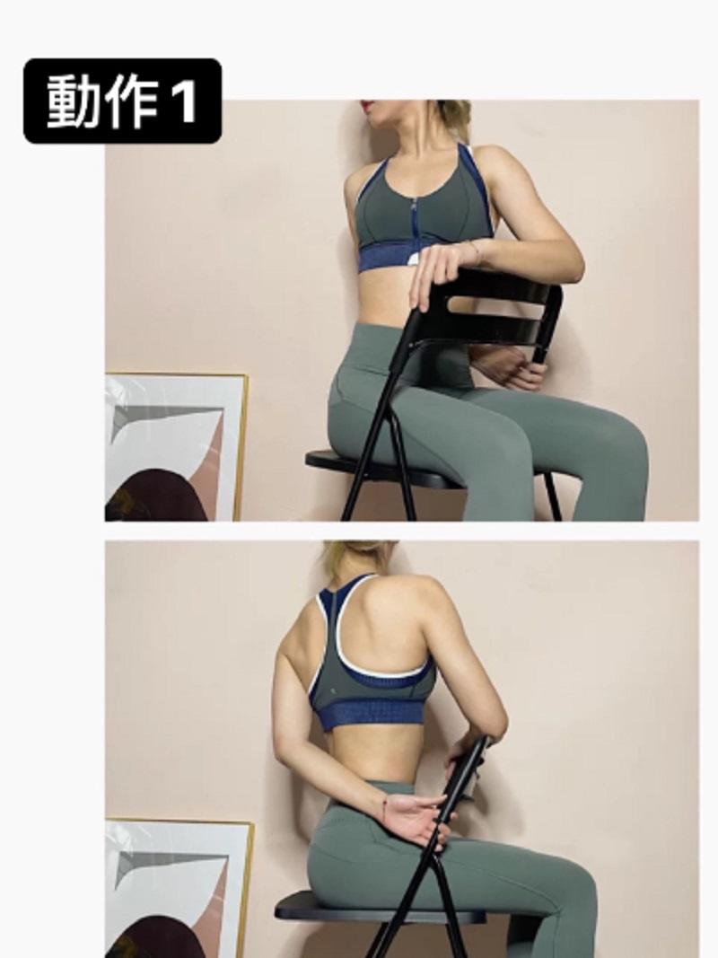 HLV hướng dẫn động tác tận dụng chiếc ghế để tập luyện, giúp các chị em lưng thẳng dáng thon đi trông thấy - Ảnh 2