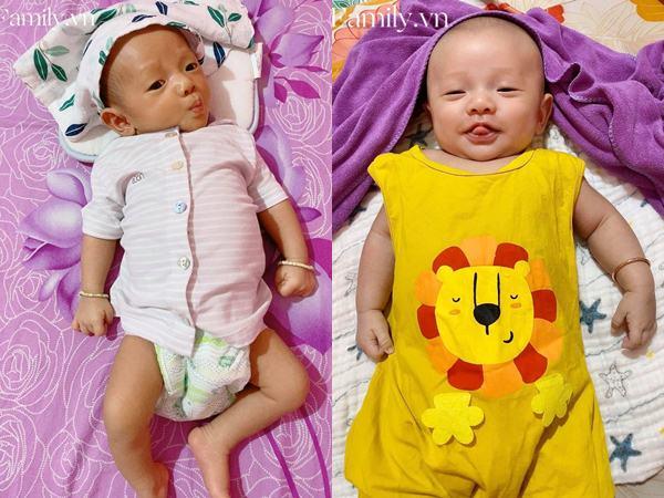 'Vì dịch nên tóc và lông mày đi du lịch chưa về kịp', bé 2 tháng tuổi khiến các mẹ thích thú vì gương mặt siêu hài - Ảnh 2