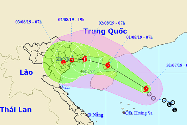 Áp thấp nhiệt đới mạnh thành bão số 3, hướng vào Quảng Ninh - Nam Định - Ảnh 1