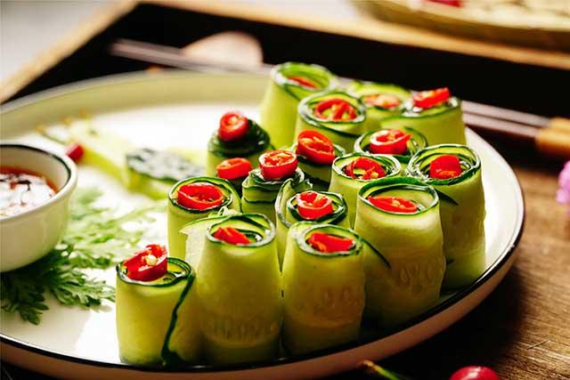 5 phút biến tấu món salad dưa leo chim công đẹp ngon hết sảy - Ảnh 5