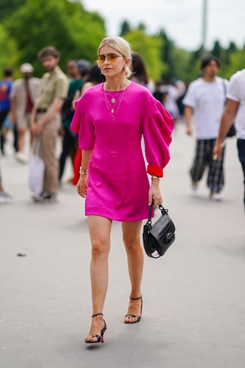 Quy tắc mặc màu hồng không sến cũng chẳng bánh bèo - Ảnh 9