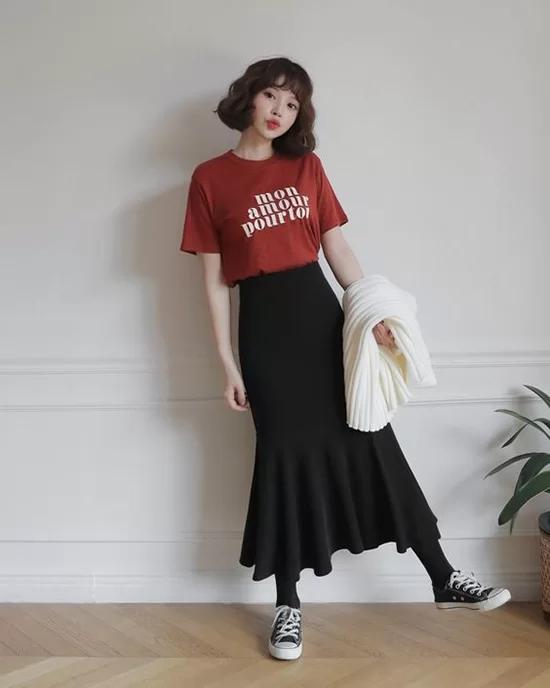 Váy áo màu nổi cho mùa thu - Ảnh 7