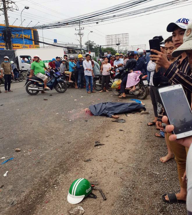 Chuyến xe định mệnh của tài xế GrabBike trước khi thiệt mạng dưới bánh container ở Long An - Ảnh 1