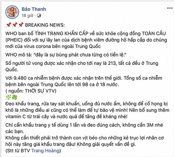 Những hành động văn minh của sao Việt giữa lúc dịch corona bùng phát - Ảnh 7