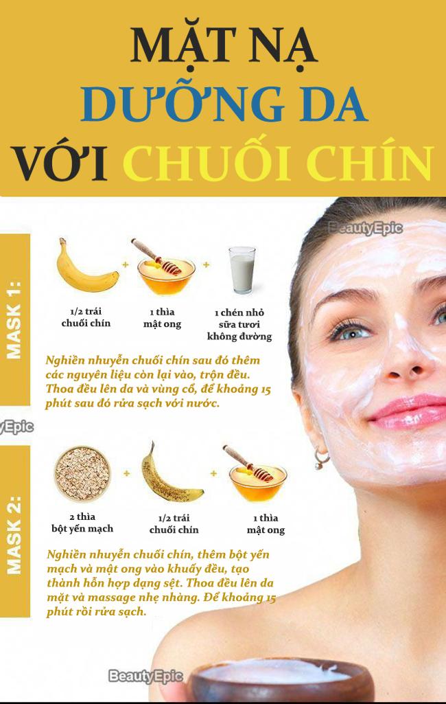 2 công thức mặt nạ dưỡng da dễ làm từ chuối chín - Ảnh 1