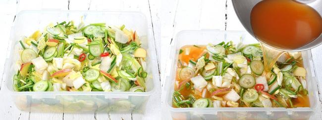 Học cách làm món dưa góp kiểu Hàn, ăn với gì cũng ngon - Ảnh 3