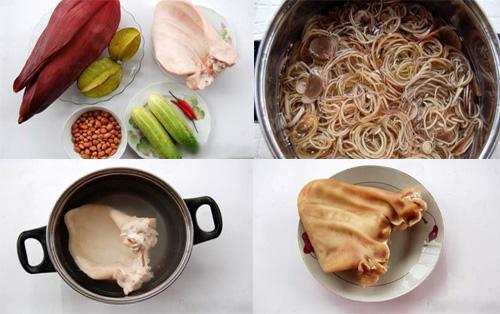 Cách làm món nộm hoa chuối tai heo giòn ngon mà không bị thâm - Ảnh 1
