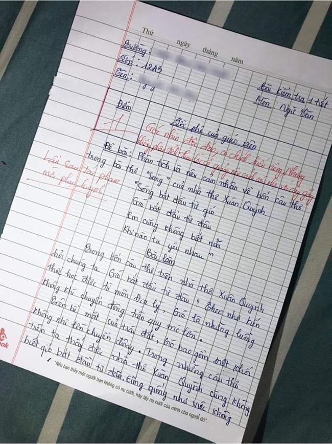 Học sinh giỏi Địa phải phân tích Văn, đọc xong cô giáo khen nức nở nhưng điểm số cuối cùng mới khiến ai nấy sửng sốt - Ảnh 1