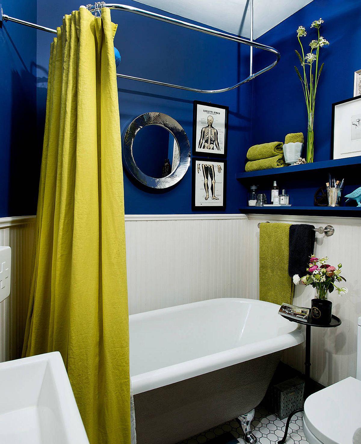 Phòng tắm mùa hè trở nên 'mát lịm' với hai gam màu trắng - xanh - Ảnh 10