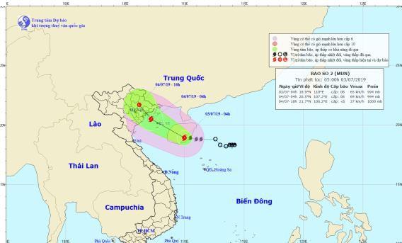Tin bão khẩn cấp: Áp thấp nhiệt đới chính thức mạnh thành bão số 2, Hà Nội mưa lớn từ chiều nay - Ảnh 1