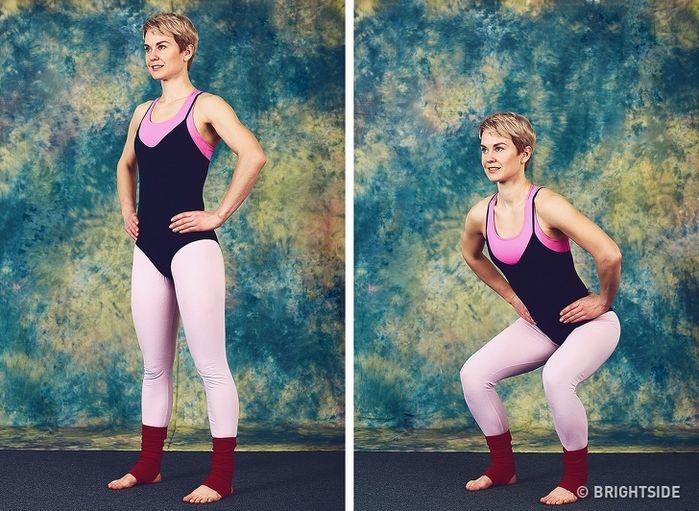 9 bài tập giúp cơ thể bạn trở nên thon gọn chỉ 10 phút mỗi ngày  - Ảnh 5