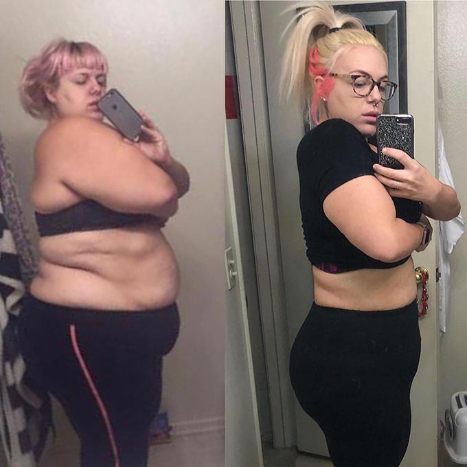 Cô gái giảm 60kg không cần nhịn ăn - Ảnh 2