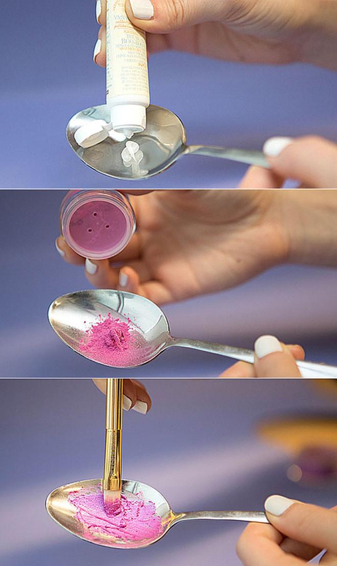 Dùng thìa che mắt và 6 mẹo giúp việc make up trở nên dễ dàng hơn - Ảnh 6