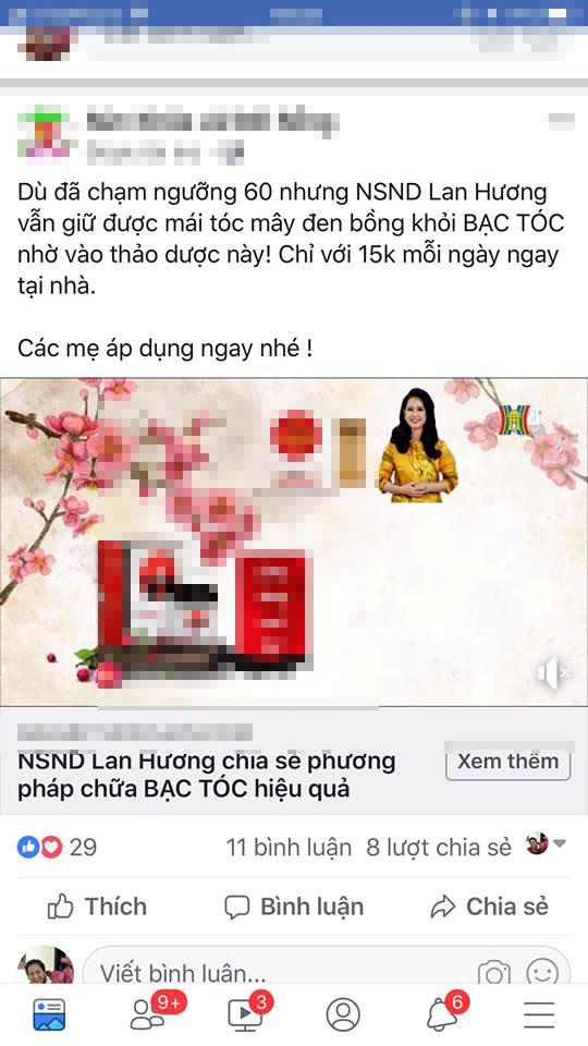 Nghệ sĩ Lan Hương bức xúc vì bị lợi dụng hình ảnh quảng cáo thuốc làm đen tóc - Ảnh 5