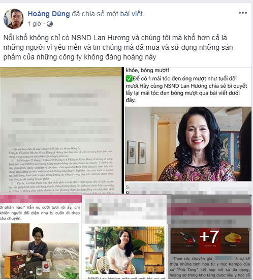 Nghệ sĩ Lan Hương bức xúc vì bị lợi dụng hình ảnh quảng cáo thuốc làm đen tóc - Ảnh 8