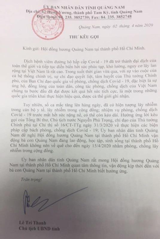 Quảng Nam vận động hỗ trợ người Quảng xa quê mùa dịch Covid-19 - Ảnh 1